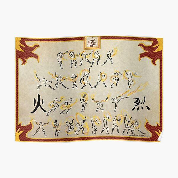 Avatar the Last Airbender - Fire Scroll  Poster
