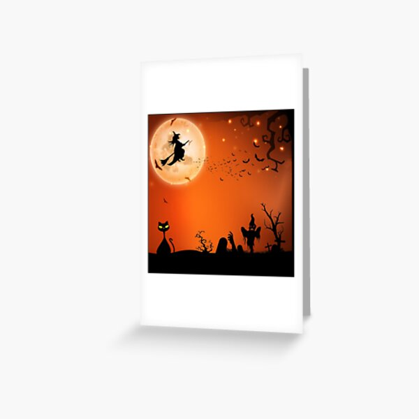 Halloween Antics Greeting Card