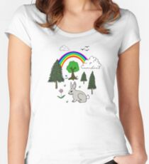 Nature Scene Women's Fitted Scoop T-Shirt