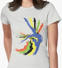 MOTION gymnastics olympic colours Womens Fitted T-Shirt