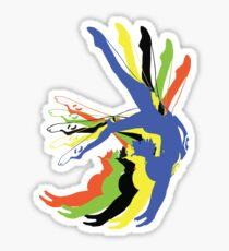MOTION gymnastics olympic colours Sticker