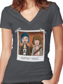 Sick strange world Women's Fitted V-Neck T-Shirt