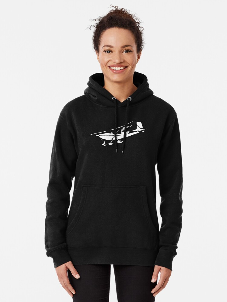 Alternate view of Vintage Cessna 172 Airplane Pullover Hoodie