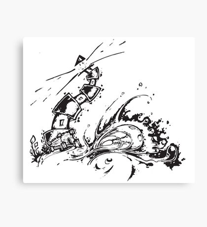 Lighthouse Swell Canvas Print