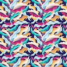 colorful pattern with leaves  by Tanor