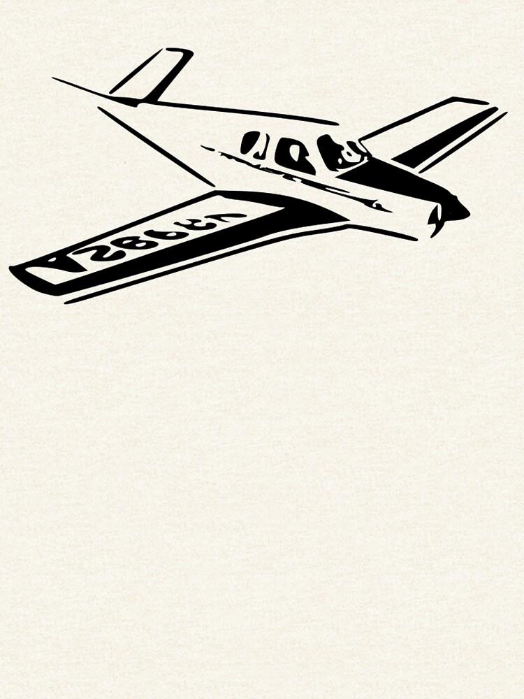 Vintage Beechcraft Bonanza Airplane by cranha