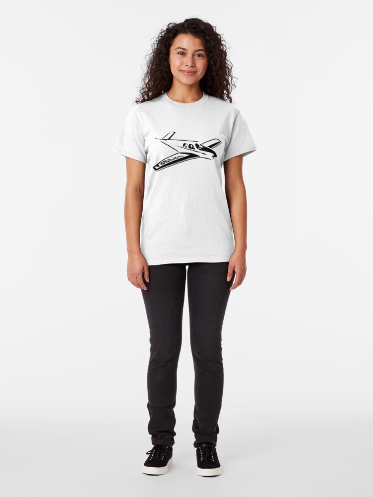 Alternate view of Vintage Beechcraft Bonanza Airplane Classic T-Shirt