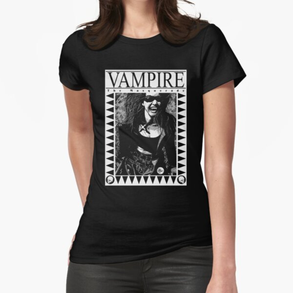Retro Vampire: The Masquerade Fitted T-Shirt