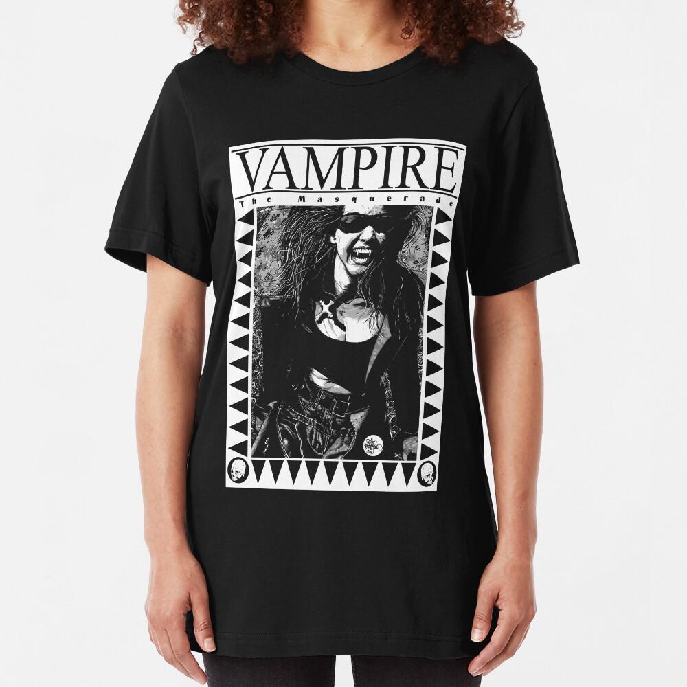 Retro Vampire: The Masquerade Slim Fit T-Shirt