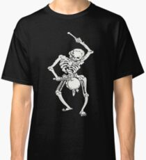 Zombie Undead Skeleton Marching and Beating A Drum Classic T-Shirt