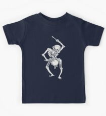 Zombie Undead Skeleton Marching and Beating A Drum Kids Tee