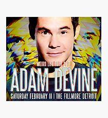 adam devine tour 2017 Photographic Print