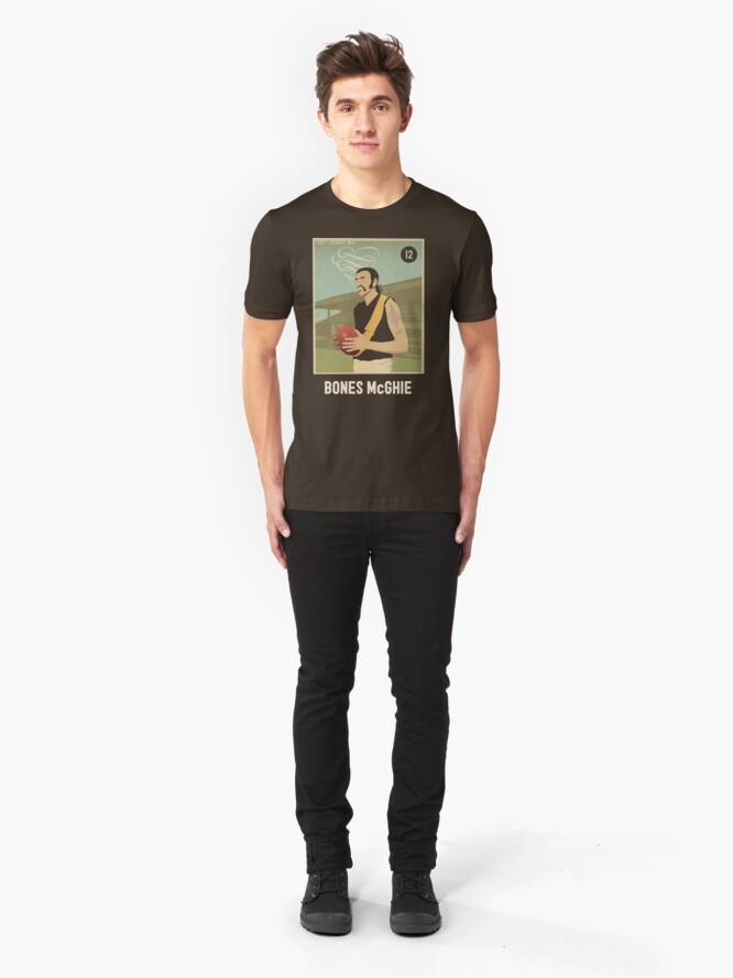 Alternate view of Bones McGhie - Richmond [dark shirt version] Slim Fit T-Shirt