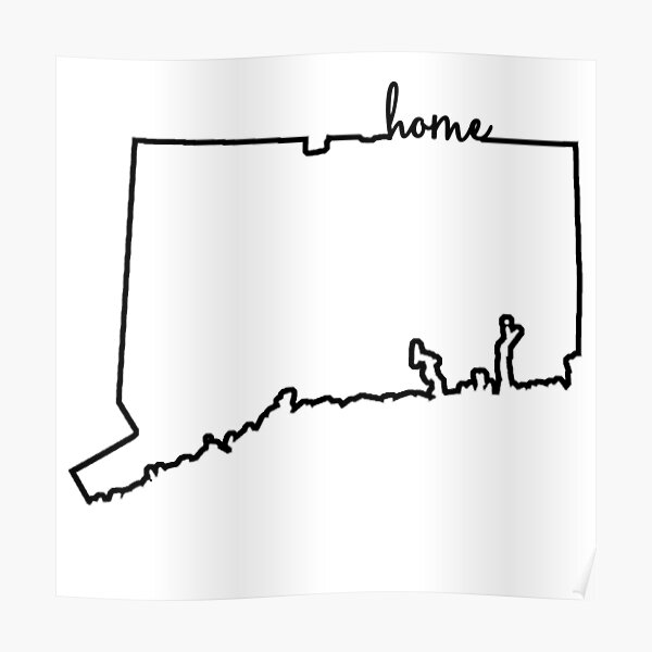 Connecticut Home Outline Poster
