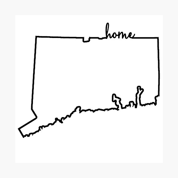 Connecticut Home Outline Photographic Print