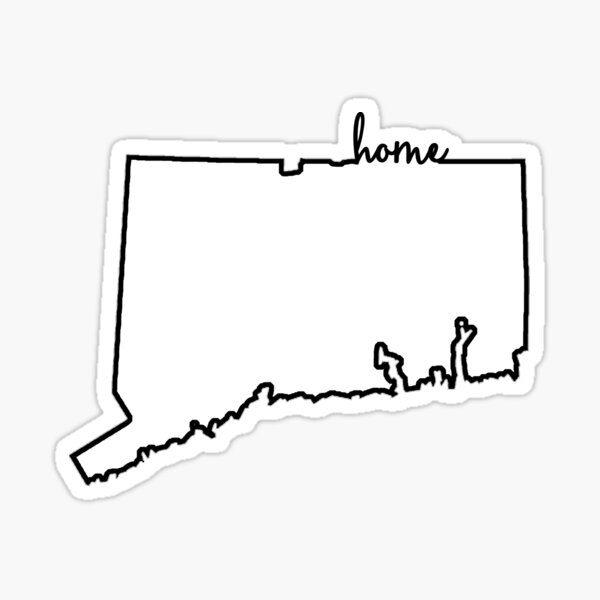 Connecticut Home Outline Sticker