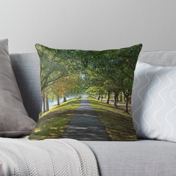 Along the Royal Military Canal Throw Pillow