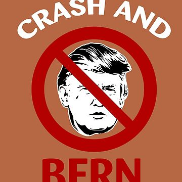 Crash And Bern Bernie Sanders Support Donald Trump by AlwaysAwesome