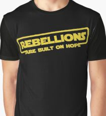"Star Wars - ""Rebellions are built on hope!""  Graphic T-Shirt"