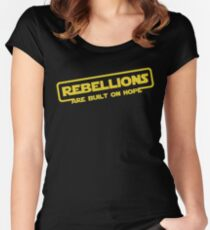 "Star Wars - ""Rebellions are built on hope!""  Women's Fitted Scoop T-Shirt"
