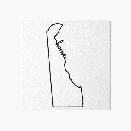 Delaware Home Outline Art Board Print
