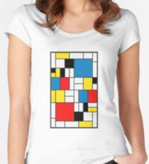 Piet Mondrian Composition Women's Fitted Scoop T-Shirt