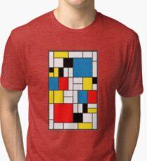 Piet Mondrian Composition Tri-blend T-Shirt