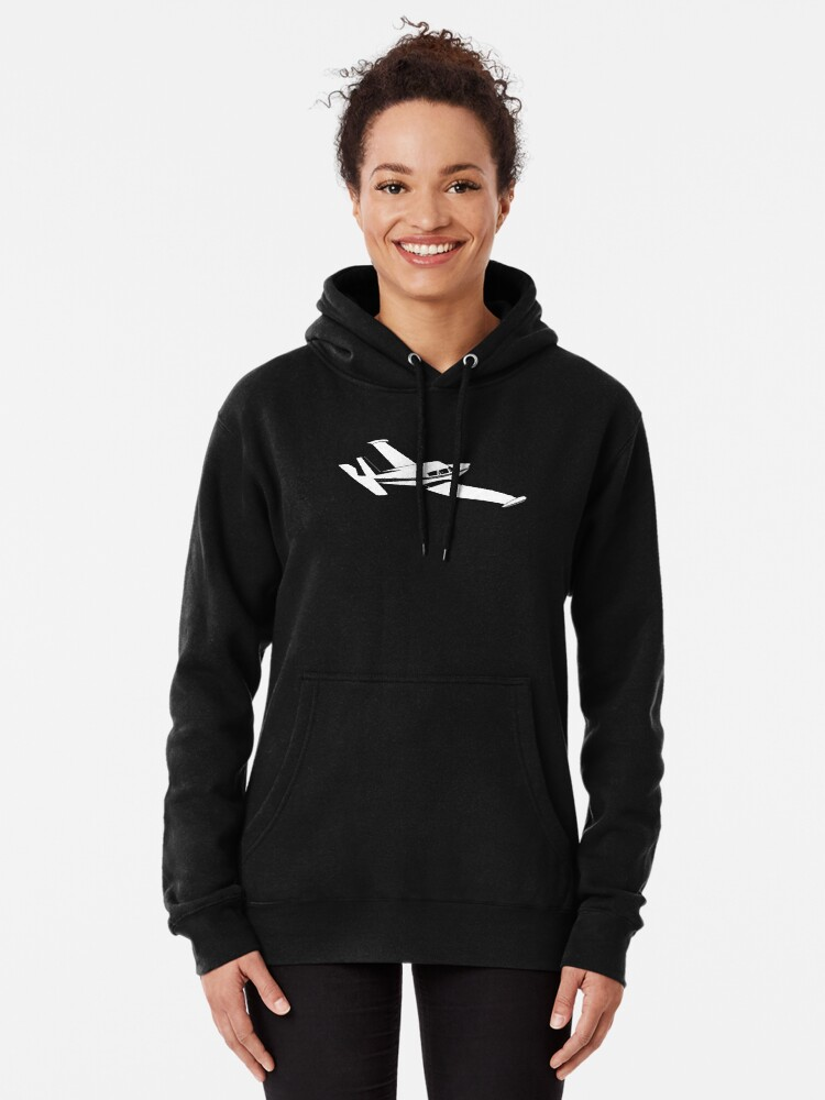 Alternate view of Piper Comanche Airplane tip tanks Pullover Hoodie