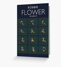 Robbie Flower, Melbourne closeup (for dark blue shirts only) Greeting Card