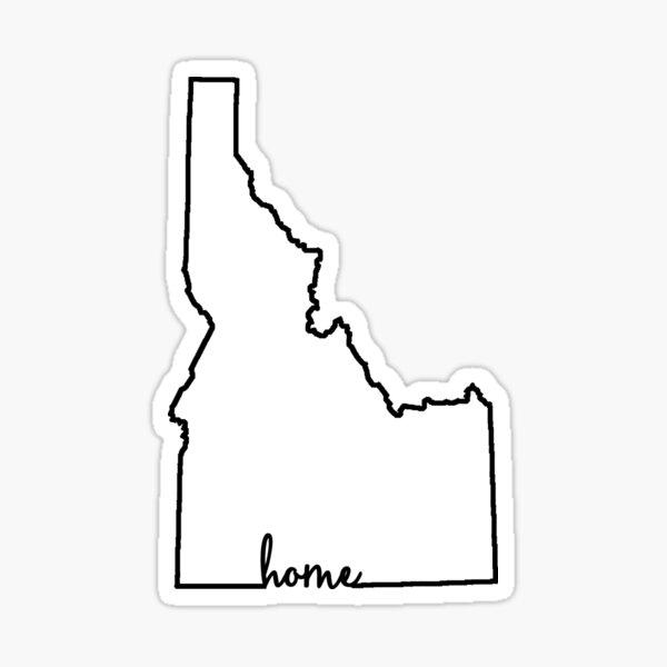 Idaho Home Outline Sticker