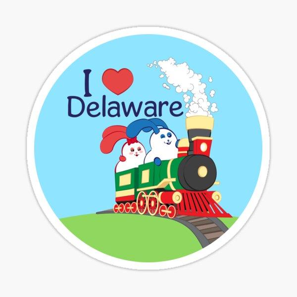 Ernest and Coraline | I love Delaware Sticker