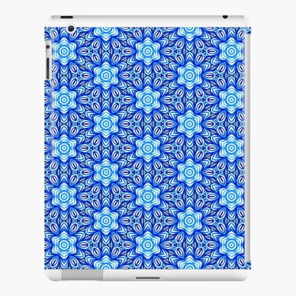 Watercolour Hand Painted Floral in Blue - Pattern 374 iPad Snap Case
