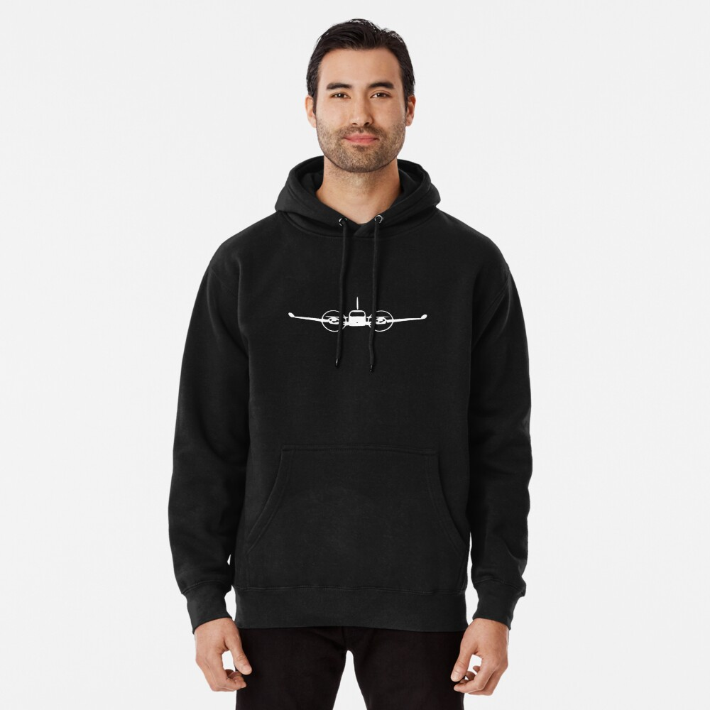 Cessna 310 Twin-Engine Airplane Pullover Hoodie