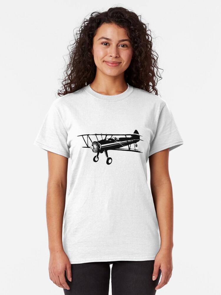 Alternate view of Stearman Biplane Classic T-Shirt