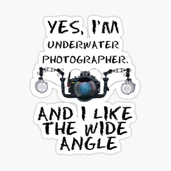 YES, IAM UNDERWATER PHOTOGRAPHER Pegatina