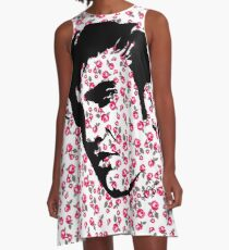 Elvis Presley on Roses by Pasha for Goddamn media  A-Line Dress