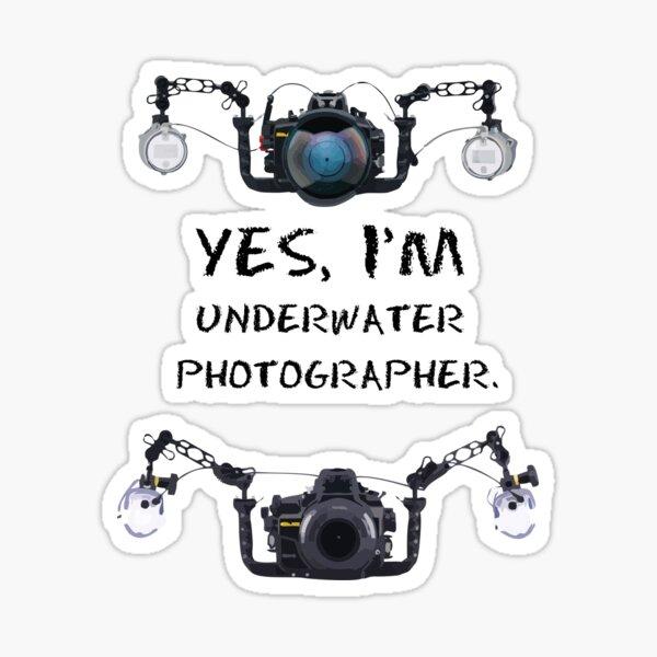 yes, I'm  underwater  photographer Pegatina
