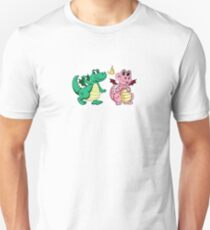 Pinky and Green happy pair Unisex T-Shirt