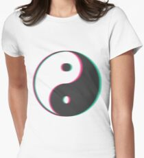 YinYang Transparent Tumblr Style Women's Fitted T-Shirt