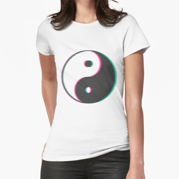 YinYang Transparent Tumblr Style Fitted T-Shirt