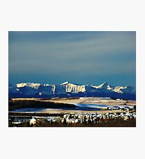 Snowy Rockies Photographic Print