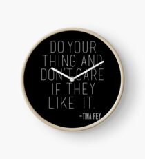Tina Fey Quote Clock