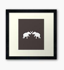 Cute Elephant Framed Print