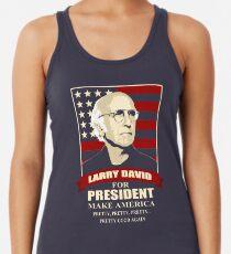 Larry David for President Racerback Tank Top