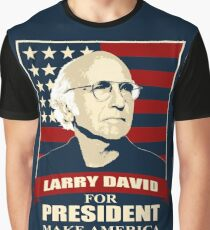 Camiseta gráfica Larry David para presidente