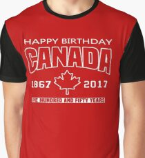 Happy Birthday Canada 150 Anniversary Graphic T-Shirt