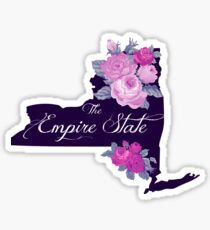 State Sayings - New York is the Empire State Sticker