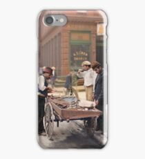 Clam seller on Mulberry Bend, New York, ca 1900 iPhone Case/Skin