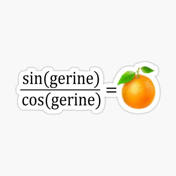 tan(gerine) math Sticker
