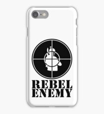 Rebel Enemy Black iPhone Case/Skin